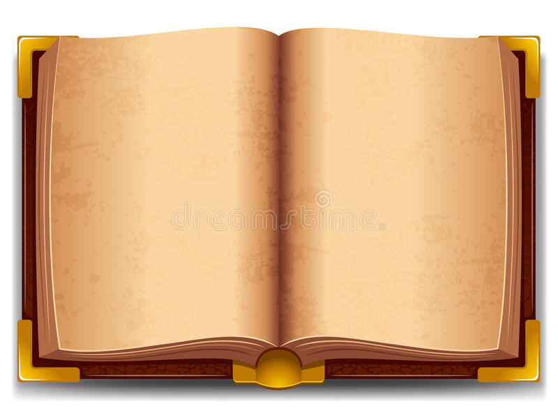 Download Opened old book stock vector. Image of illustration, literature - 26255318
