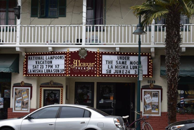 The historic Alcazar Theater of Carpinteria, California, 1. royalty free stock images