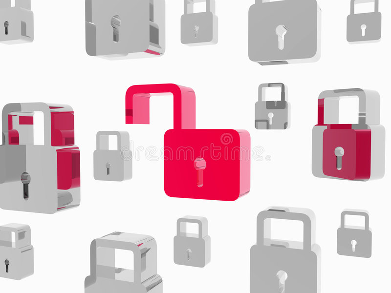 Opened padlock vector illustration