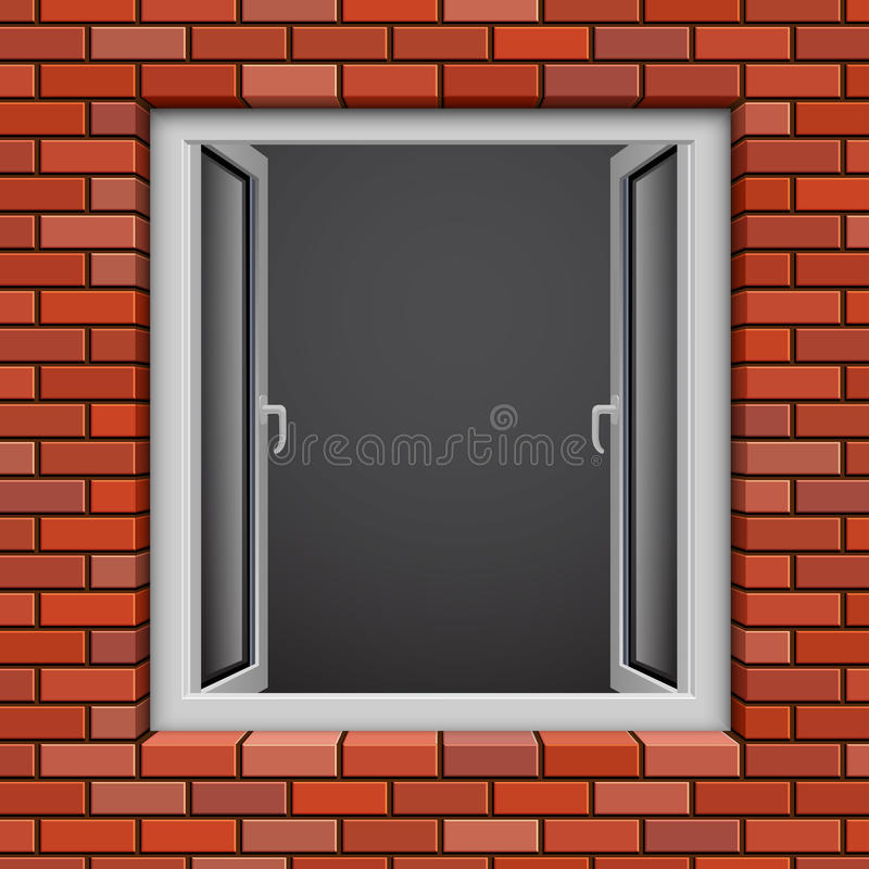 Download Opened plastic window stock vector. Image of clean, glass - 23478989
