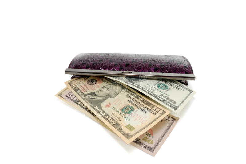 Download Opened purse with dollars stock image. Image of money - 16990811