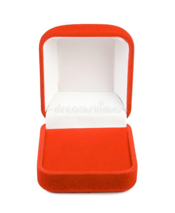 Opened red box stock photo