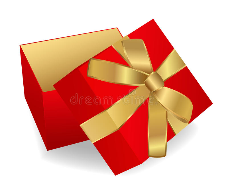 Opened Red Gift Box royalty free stock photos