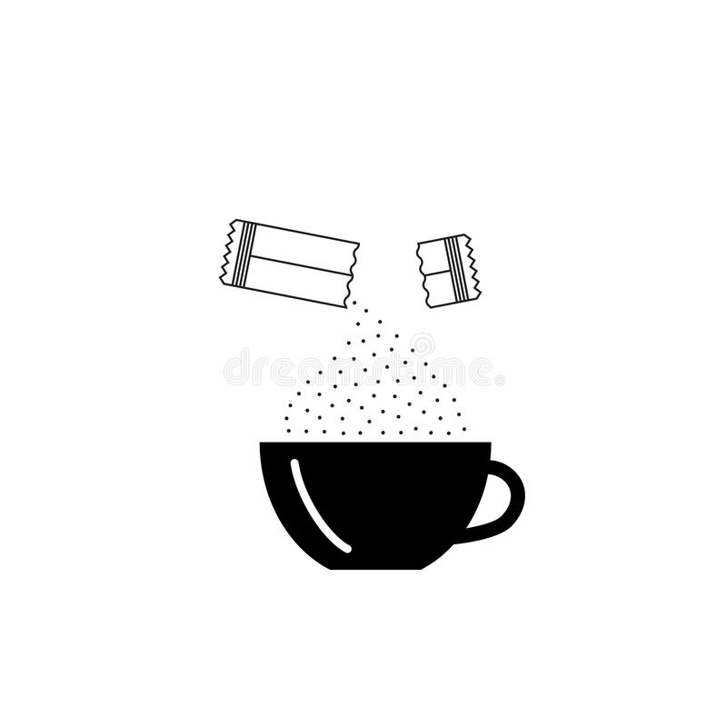 Free Opened Sachet Icon Or Container Sign With Sugar Or Creamer Royalty Free Stock Photography - 143604917