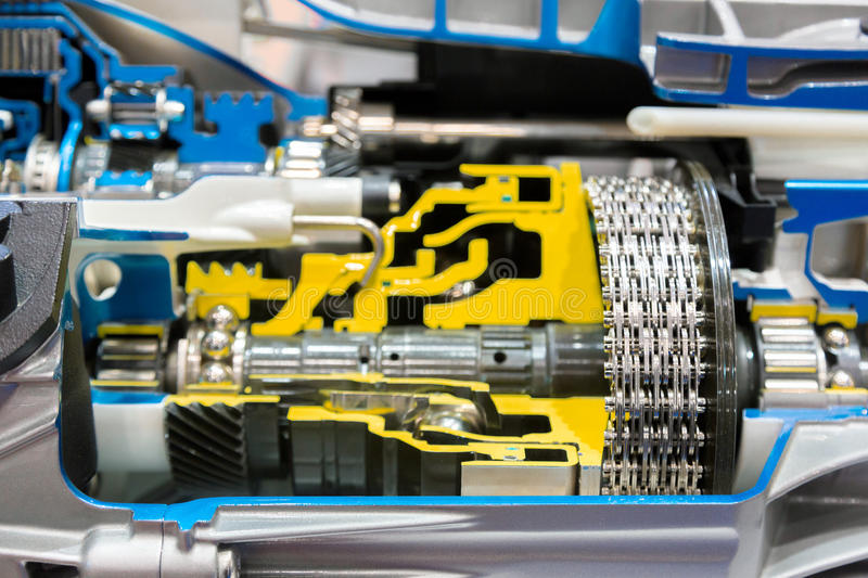 Opened switch gear of a car royalty free stock images