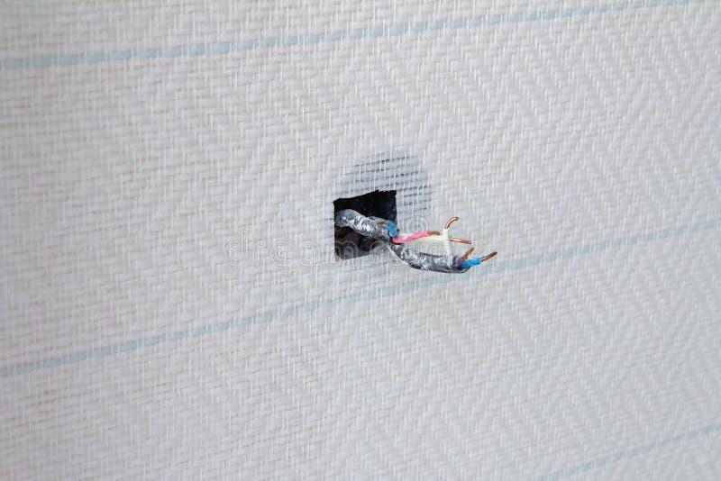 opened 220v socket stock image  image of installing