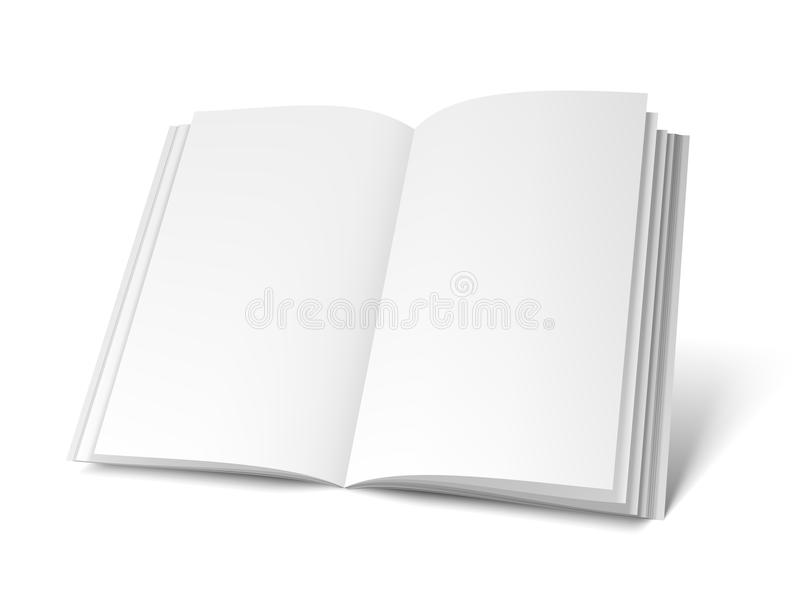 Opened White Book Template vector illustration