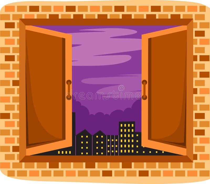 Opened window vector illustration