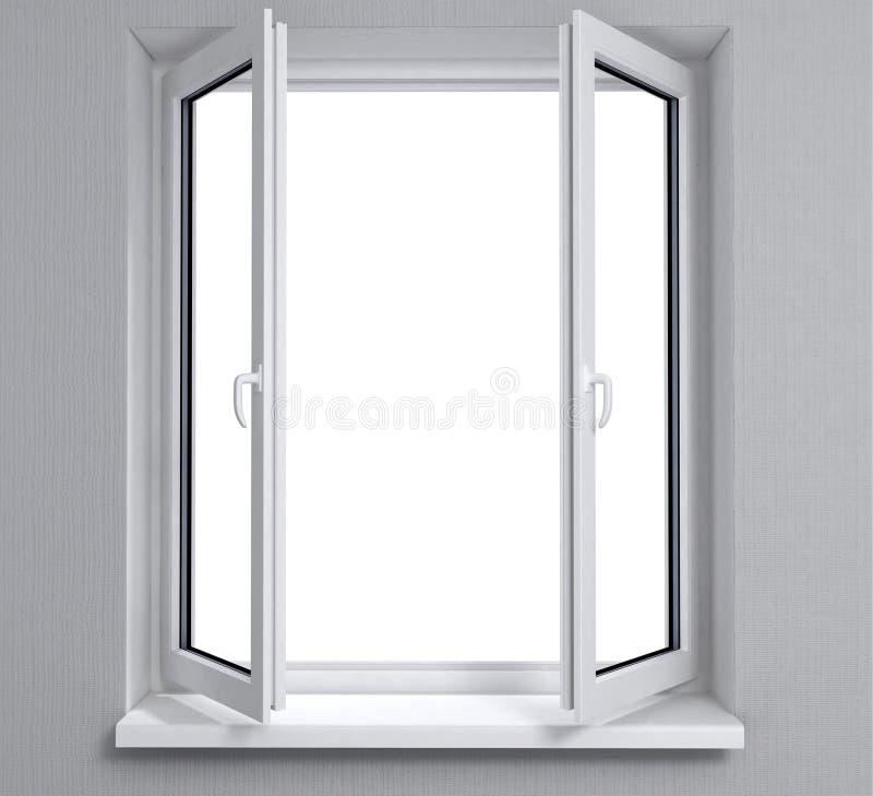 Opened window stock photography