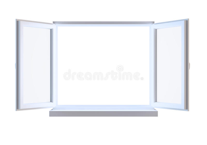 Download Opened Window Isolated On White Stock Illustration - Image: 26015199