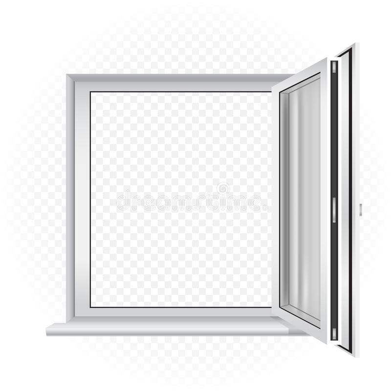 Opened window template royalty free illustration