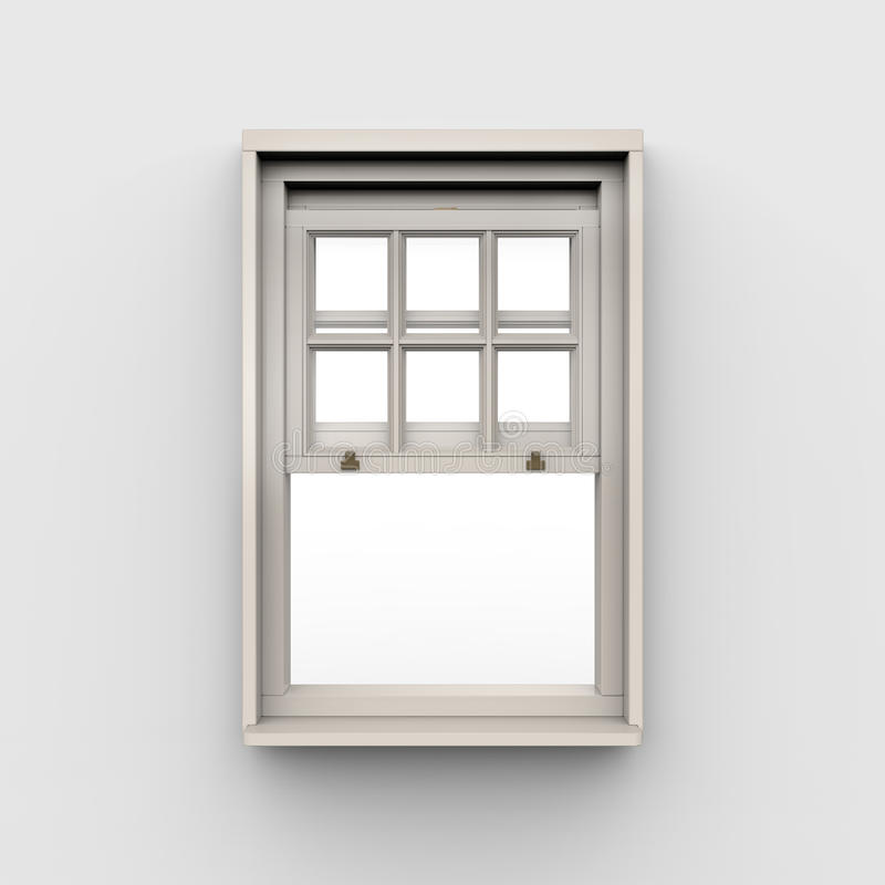 Opened Window on White Background stock illustration