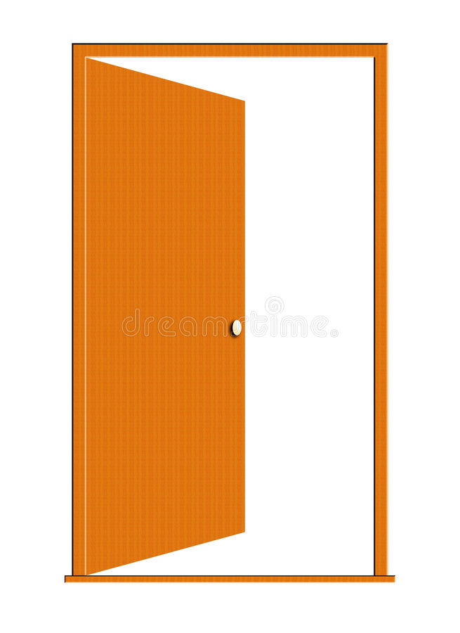 Download Opened Wood Door Illustration Royalty Free Stock Photos - Image: 4579608