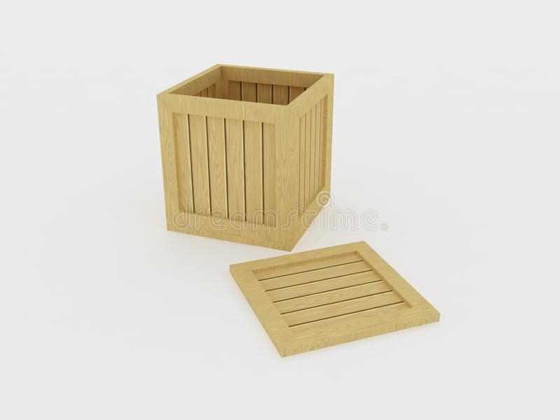Download Opened wooden crate stock illustration. Image of contain - 13986349