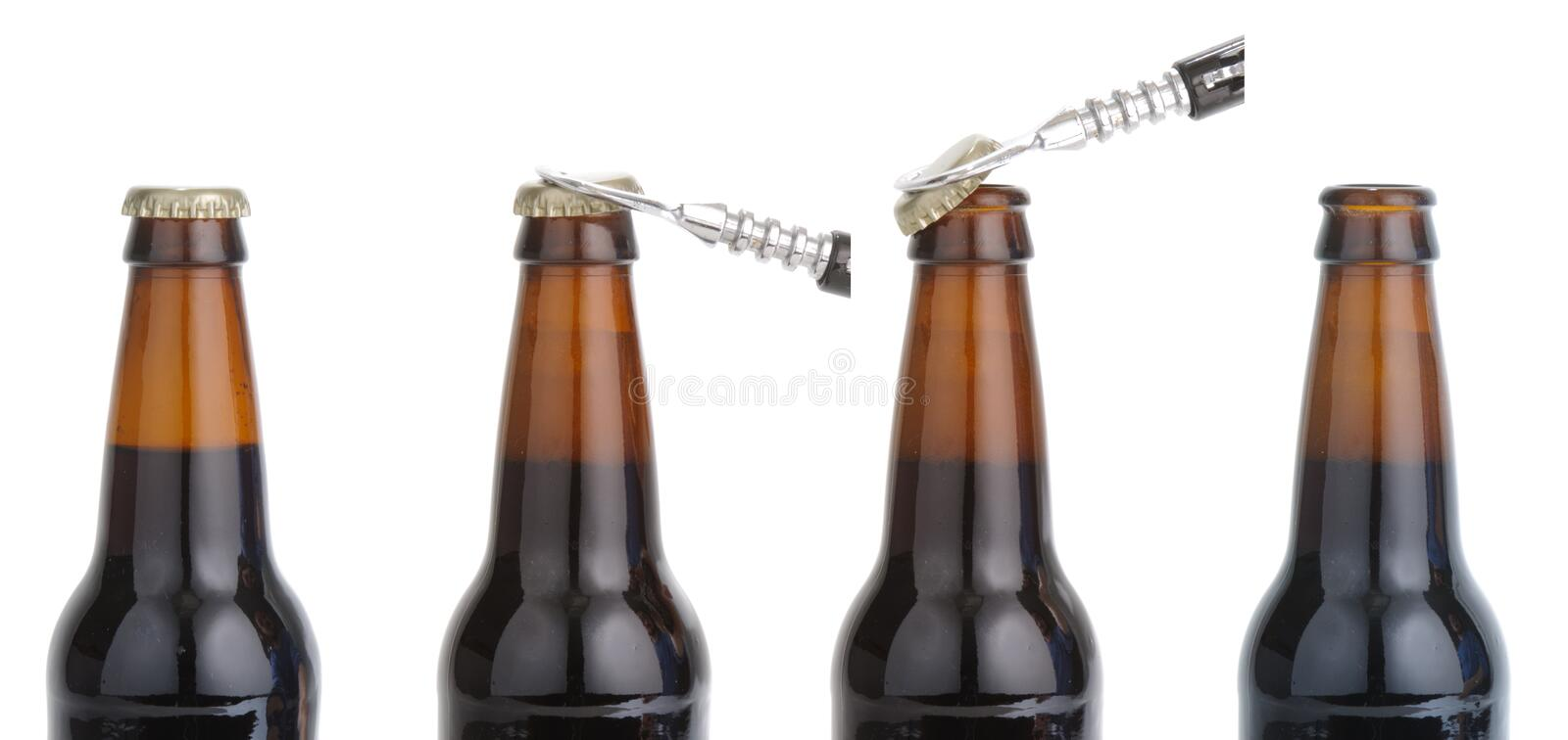 Download Opening beer bottle stock photo. Image of white, stout - 23595364