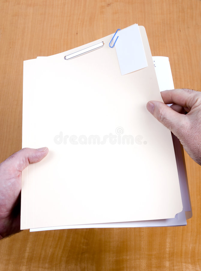 Opening a Case File royalty free stock photo