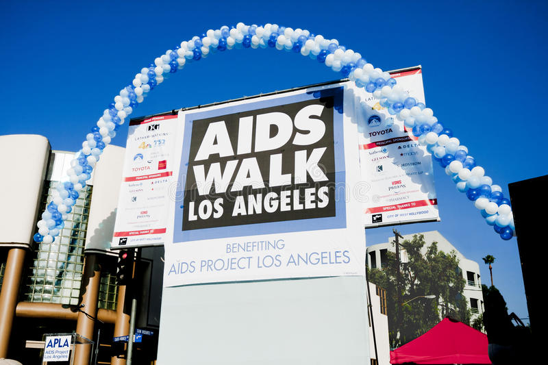 Opening Ceremonies Stage for Annual AIDS WALK LA stock images