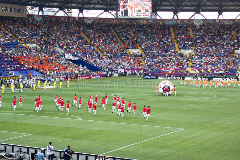 The opening ceremony of Euro 2012 in Kharkiv royalty free stock photo