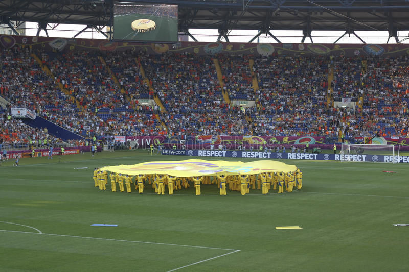 The opening ceremony of Euro 2012 in Kharkov stock photos