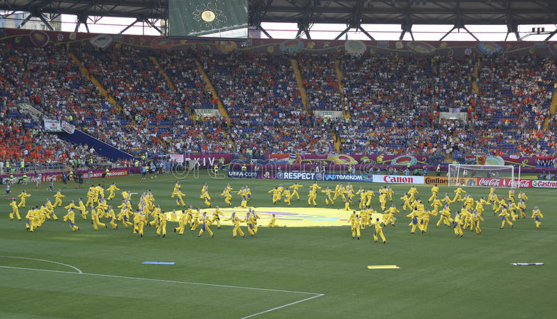 The opening ceremony of Euro 2012 in Kharkov stock images