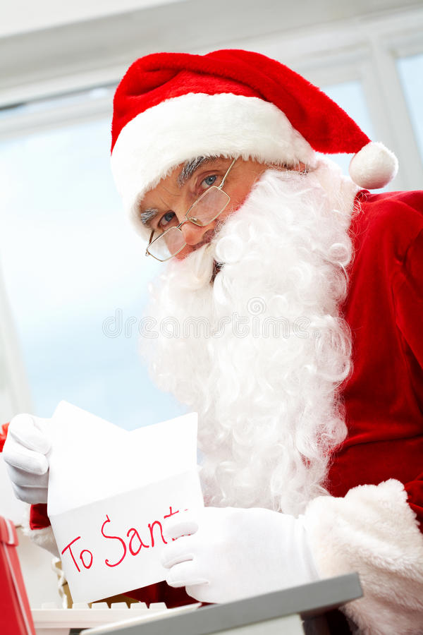 Download Opening Christmas letter stock image. Image of adult - 16129583