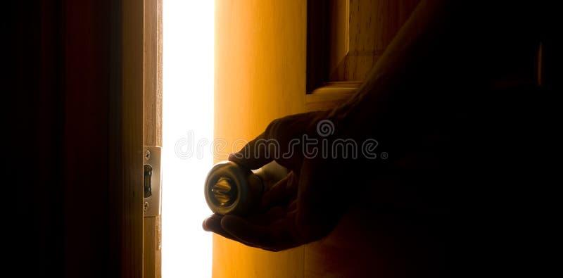 Opening the Door royalty free stock photo