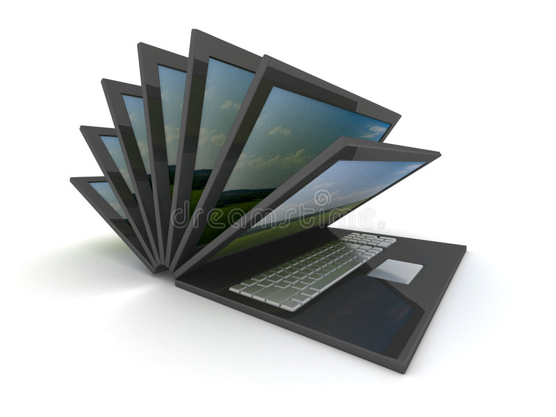 Download Opening Laptop On A White Background. Stock Photography - Image: 6518342