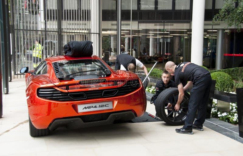 Opening of the McLaren showroom in London