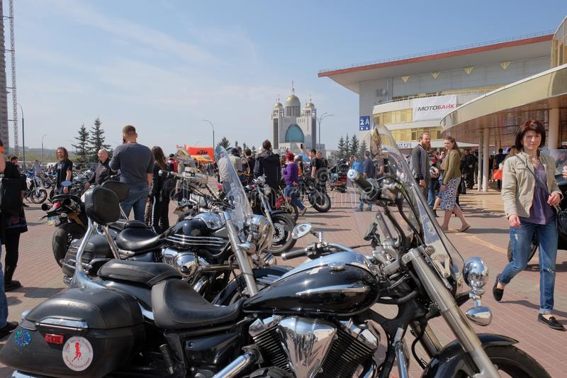 Opening of the motorcycle season in Kyiv. royalty free stock photography