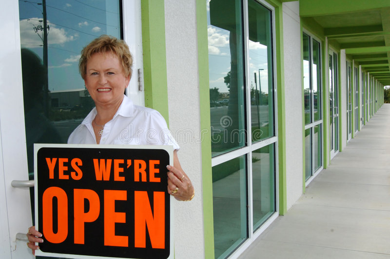 Download Opening retail shop stock photo. Image of sign, open, smiling - 6803172