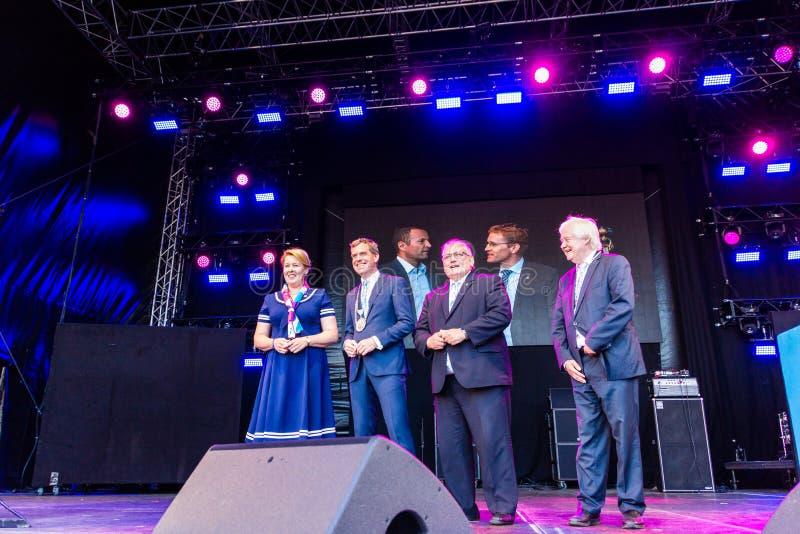 Openingsceremonie van 125ste Kieler Woche 2019, Kiel, Duitsland stock afbeelding
