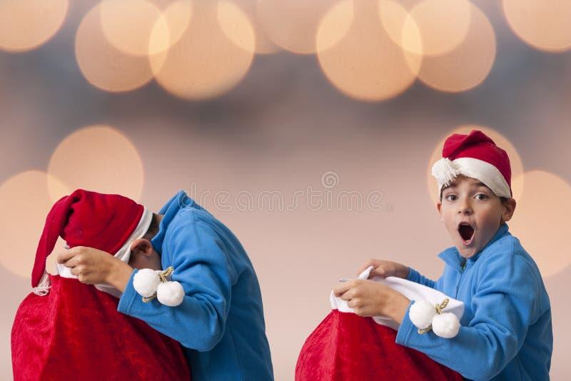 Openingskerstmis van de Kerstman royalty-vrije stock foto's
