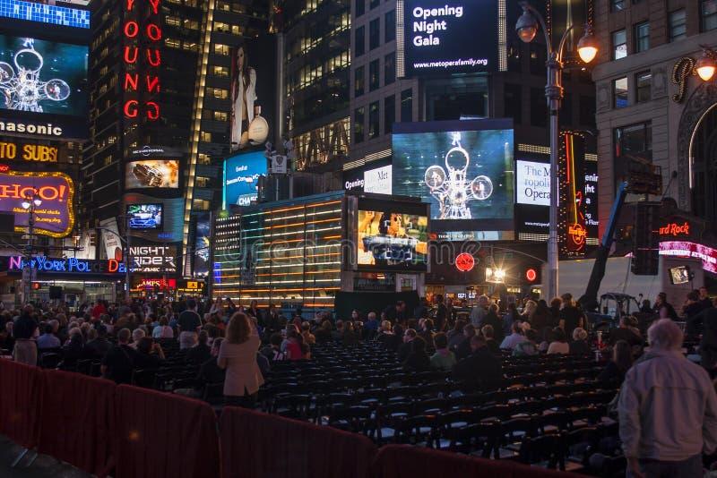 Openingsnacht van Metropolitan Opera in NYC royalty-vrije stock foto