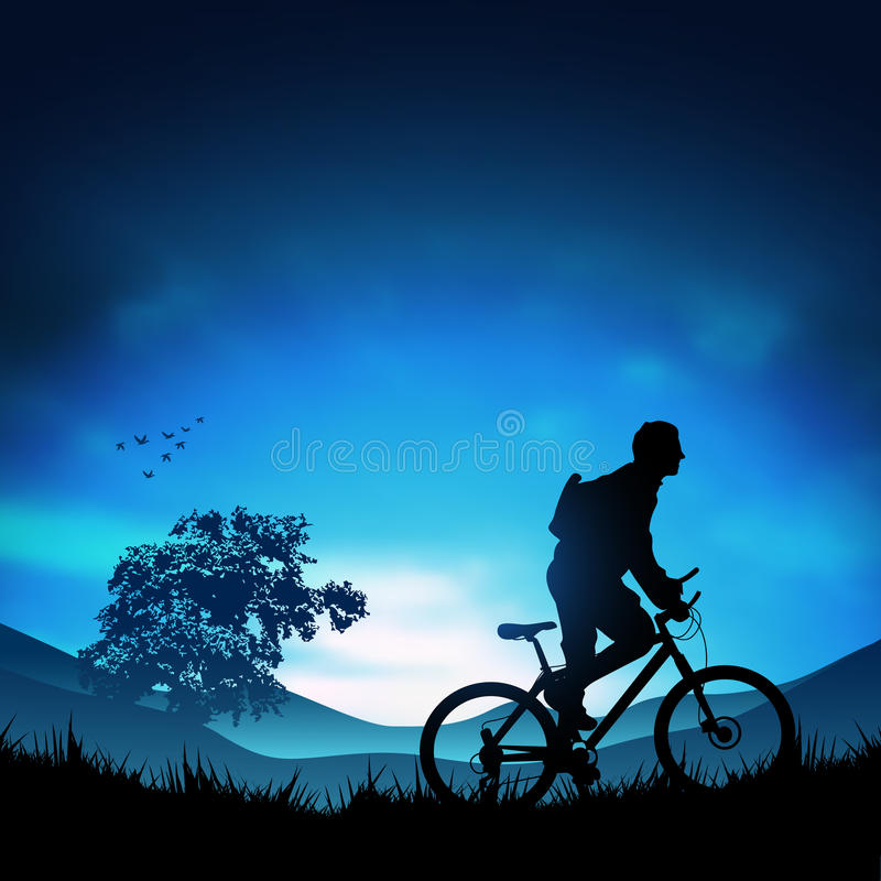 Download In openlucht Avontuur vector illustratie. Illustratie bestaande uit fiets - 10780310