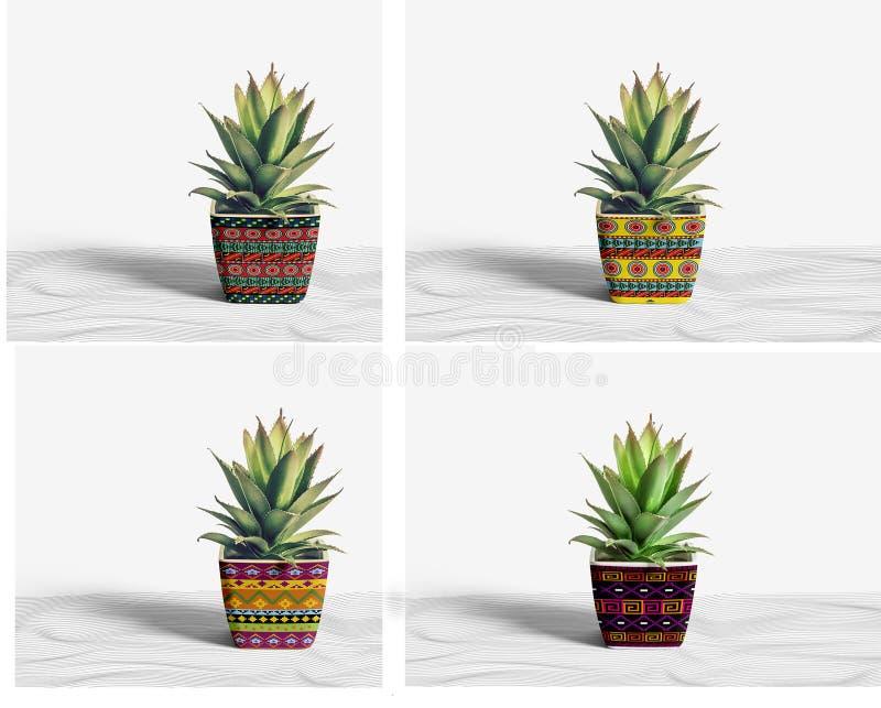Openlucht ceramische potten stock afbeelding