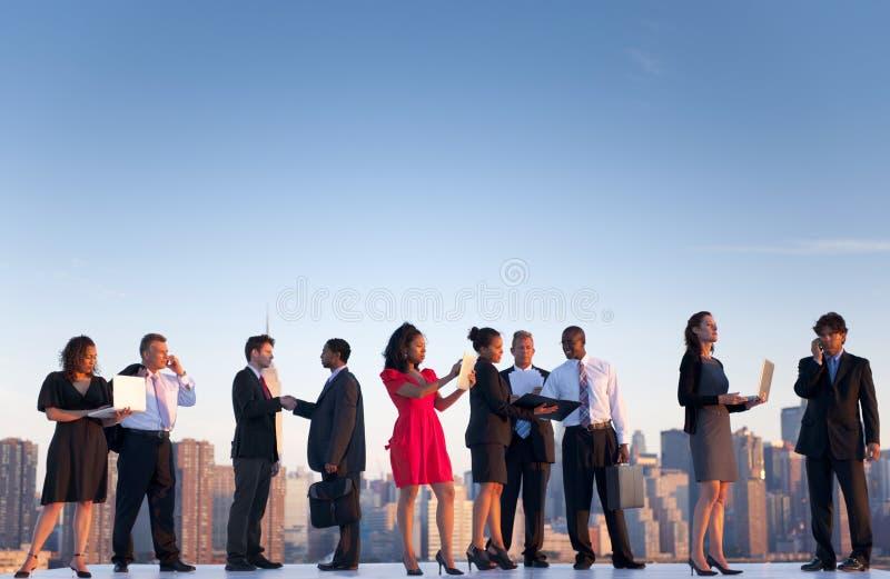 Openlucht Commerciële Vergadering in de Stad van New York royalty-vrije stock afbeeldingen