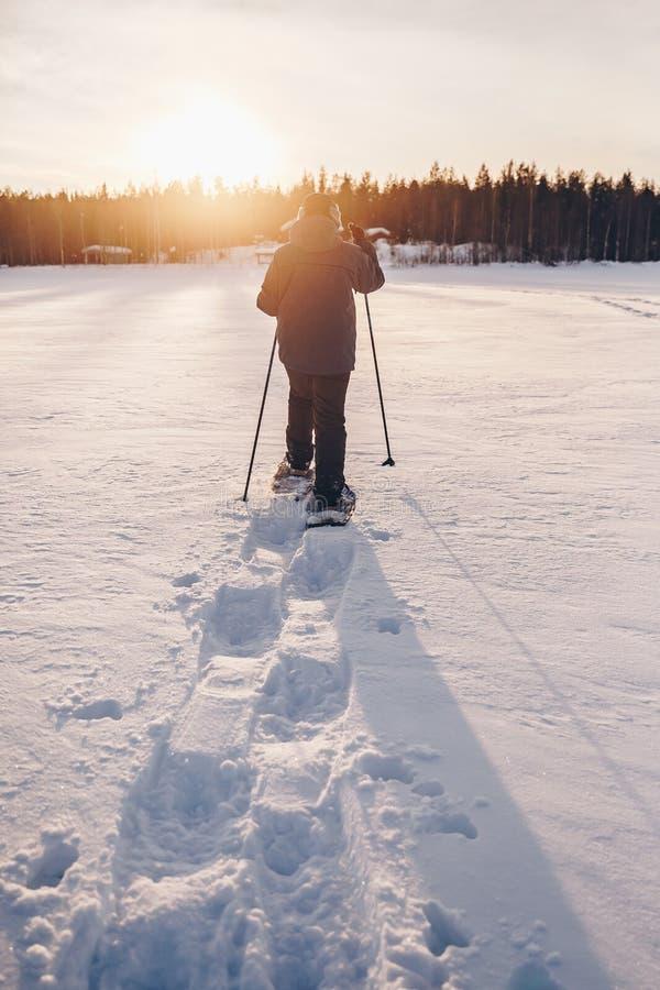 Openlucht de winteractiviteit royalty-vrije stock afbeeldingen