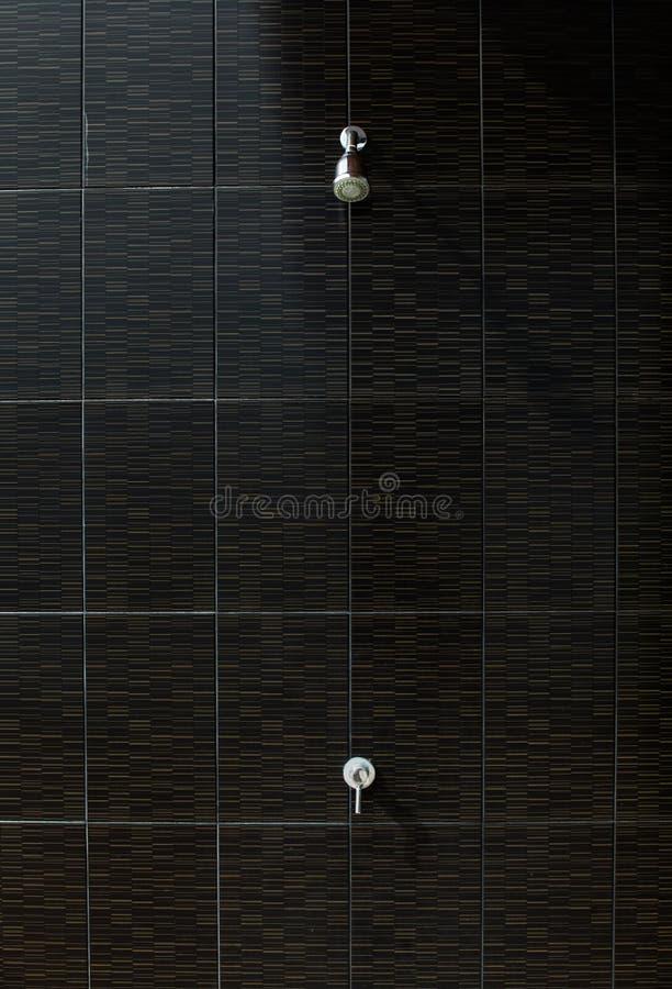 Openlucht douche bij zwembad royalty-vrije stock afbeeldingen