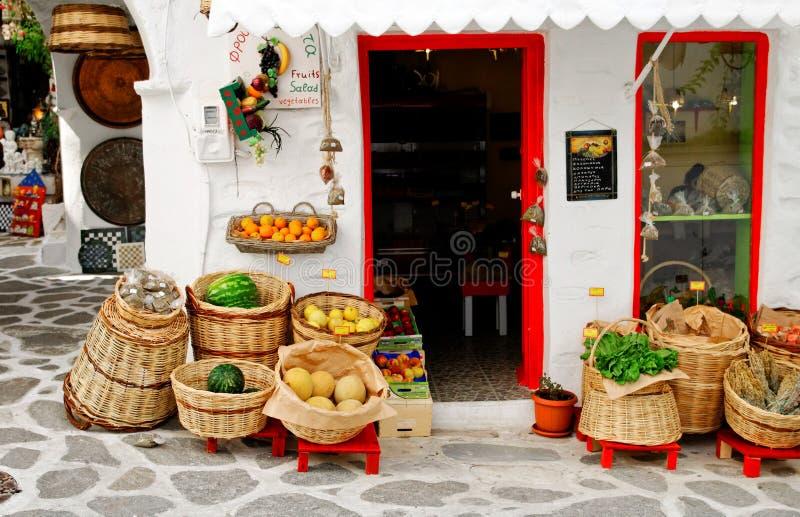 Openlucht Griekse Markt stock foto's