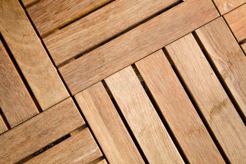 Openlucht houten decking tegel stock afbeeldingen