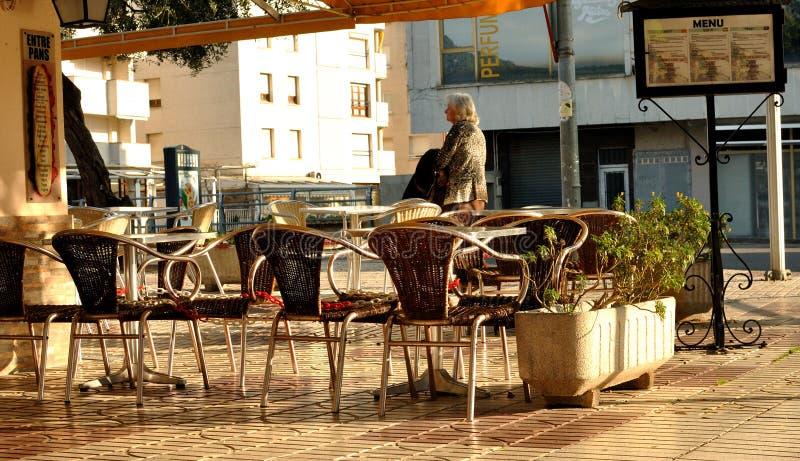 Openlucht Koffie stock afbeeldingen