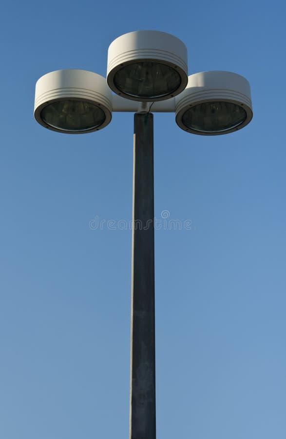 Openlucht lamppost stock foto