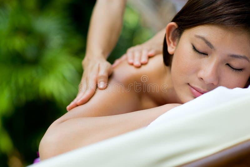 Openlucht Massage stock afbeeldingen
