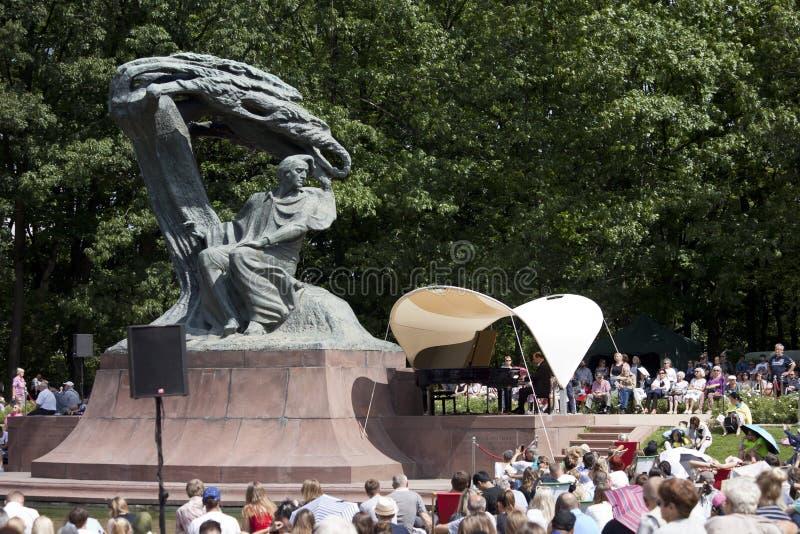 Openlucht open overweging van de muziek van Chopin royalty-vrije stock foto