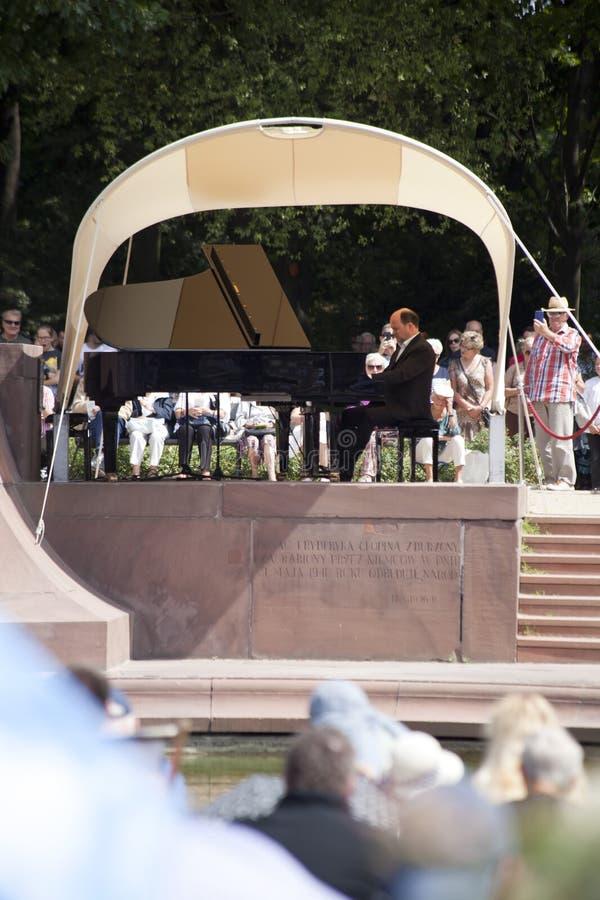 Openlucht open overweging van de muziek van Chopin royalty-vrije stock foto's