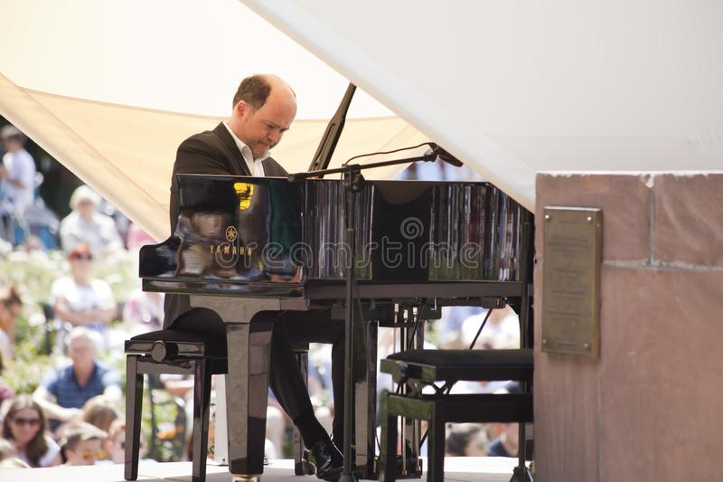 Openlucht open overweging van de muziek van Chopin royalty-vrije stock fotografie
