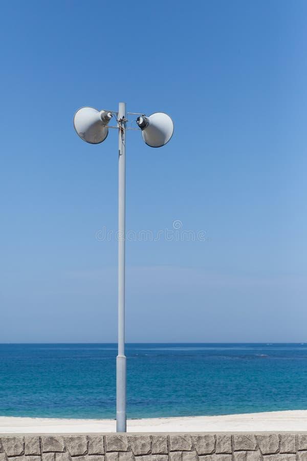 Openlucht openbare luidspreker stock foto