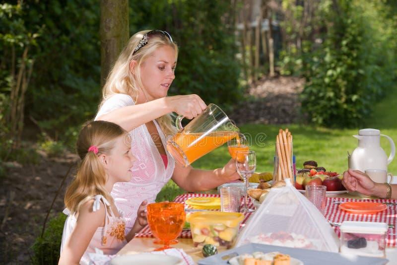 In openlucht picknick stock fotografie