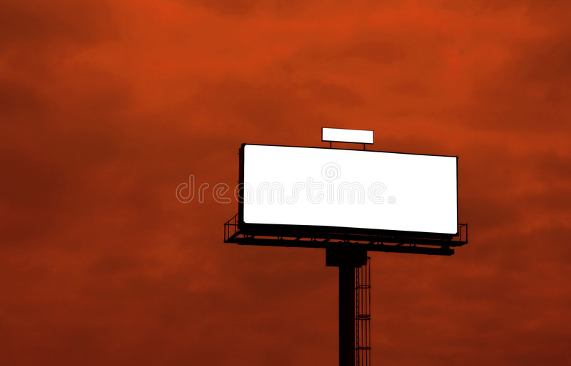 Openlucht reclameaanplakbord stock fotografie