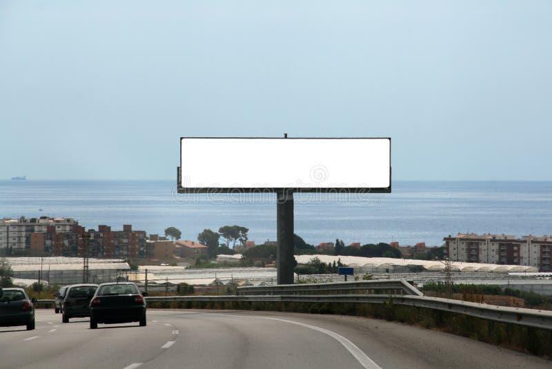 Openlucht reclameaanplakbord stock foto's
